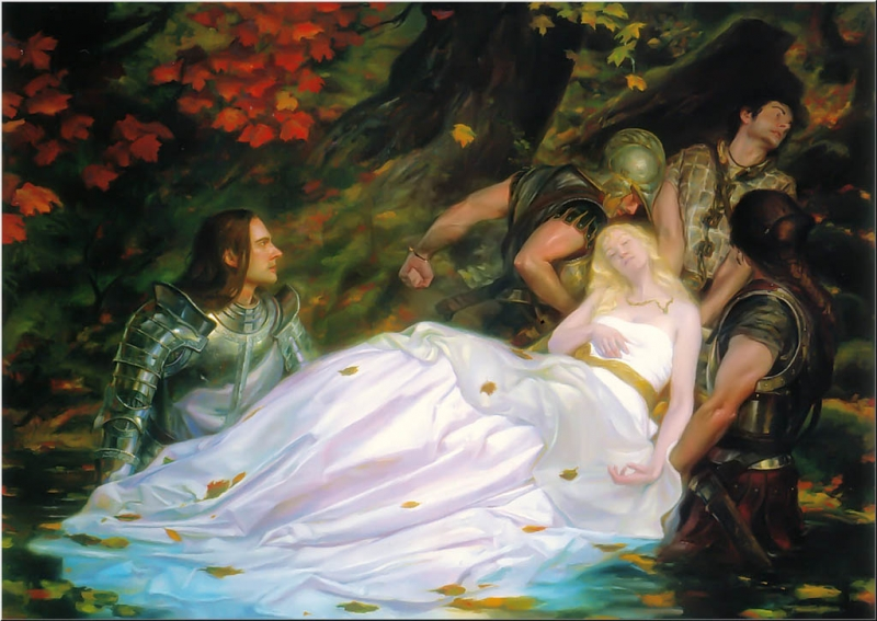 a celebration of british tradition in the poem the lady of shalott by alfred lord tennyson