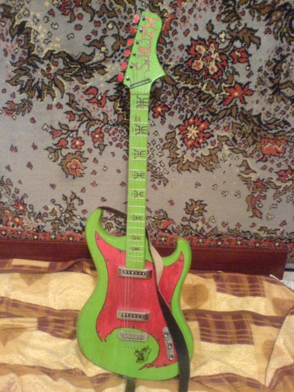 Как сделать детскую гитару своими руками 1061