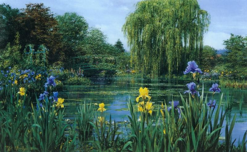 Monet'sPondWithIrisBorder-1981