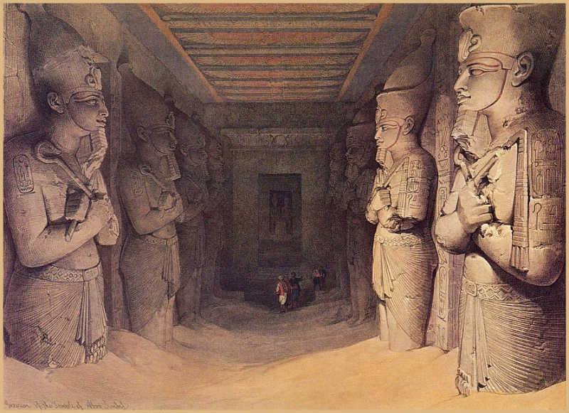 Roberts, David - Interior of Temple of Abu Simbel (end