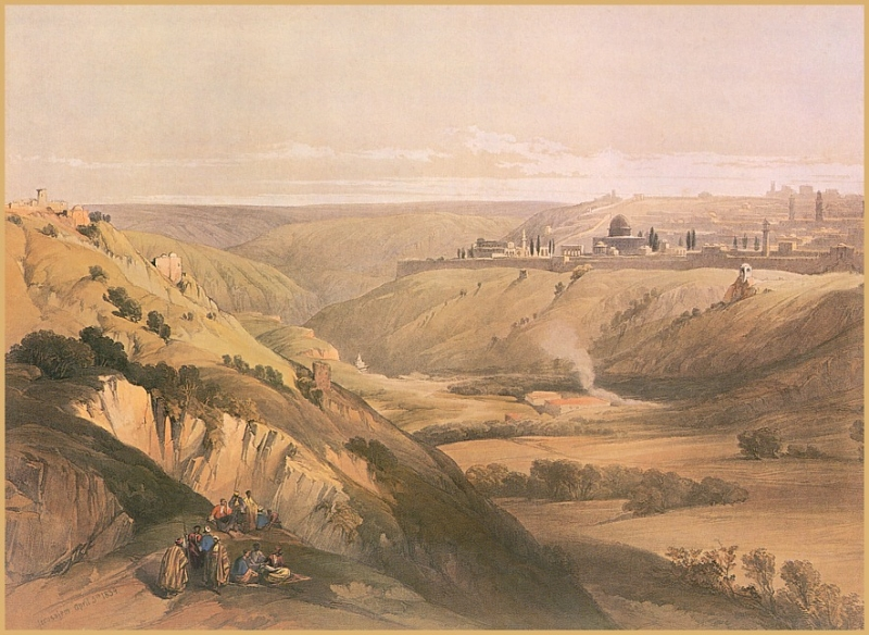 Roberts, David - Jerusalem from the Road to Bethany (end