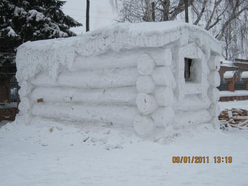 Домик своими руками снежная избушка