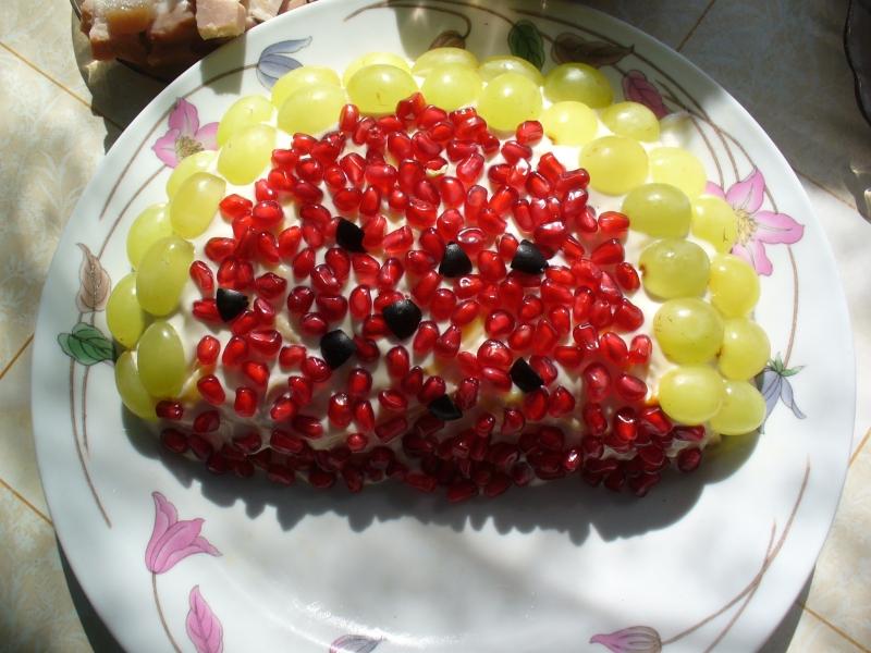 Фото салата долька арбуза