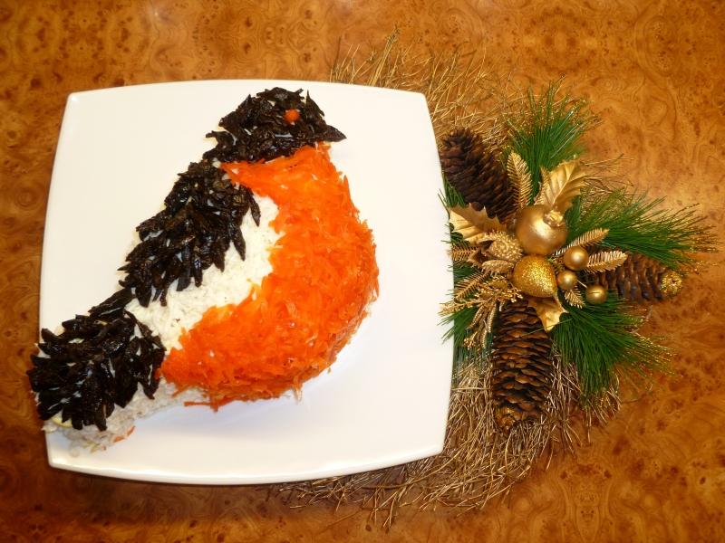 Рецепт салата снегирь с фото