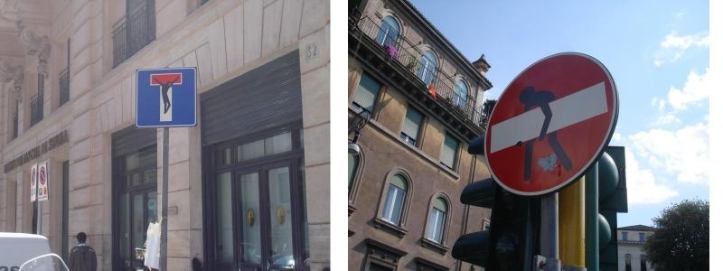 Дорожные знаки в Риме