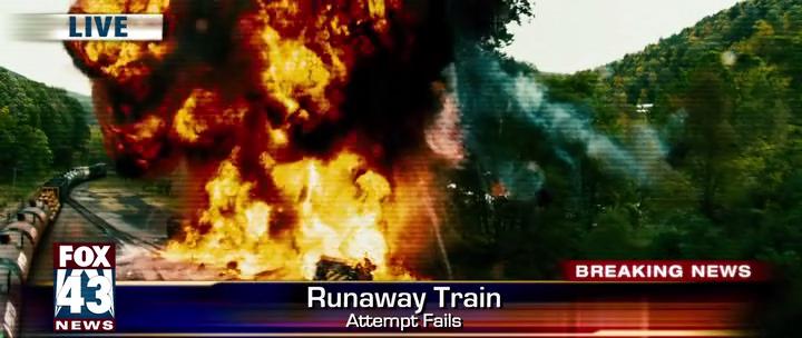 Огромные жертвы от неуправляемого поезда неизбежны