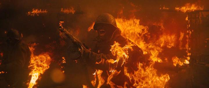 Содаты в огне