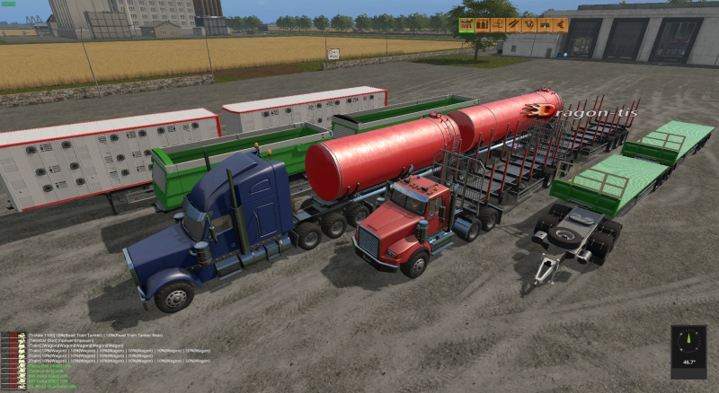 CUSTOM ROAD TRAIN PACK V1.0 RUS