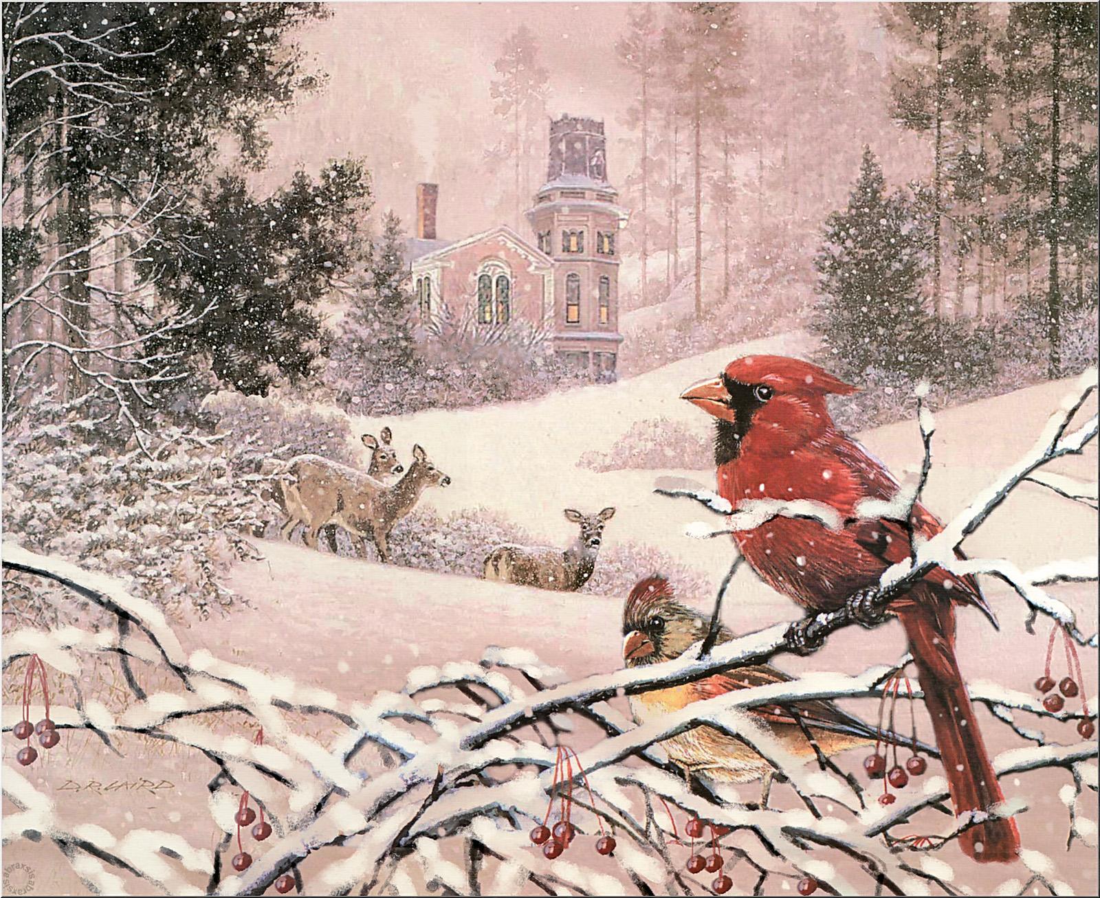 Зимние пейзажи рисунки детские 5