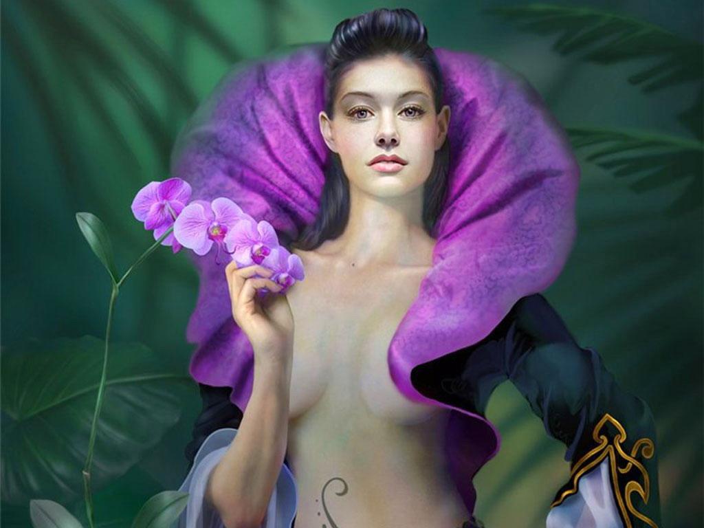 Девушка цветок картинки 7