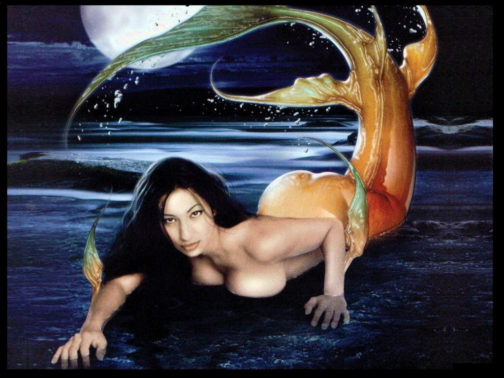 Русалки в воде секс
