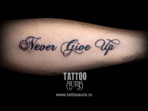 Фото тату надписи на руке татуировка