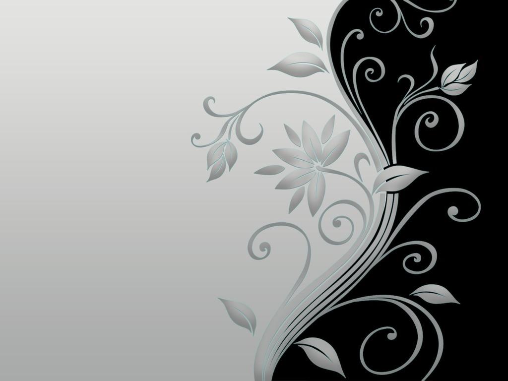 Картинки абстракция цветы черно белые 5