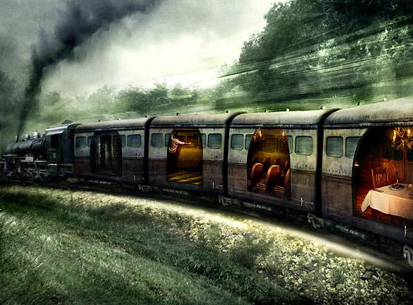 """Иллюстрация к роману """"Час волка"""" Роберта Маккаммона (Поезд с ловушками)"""