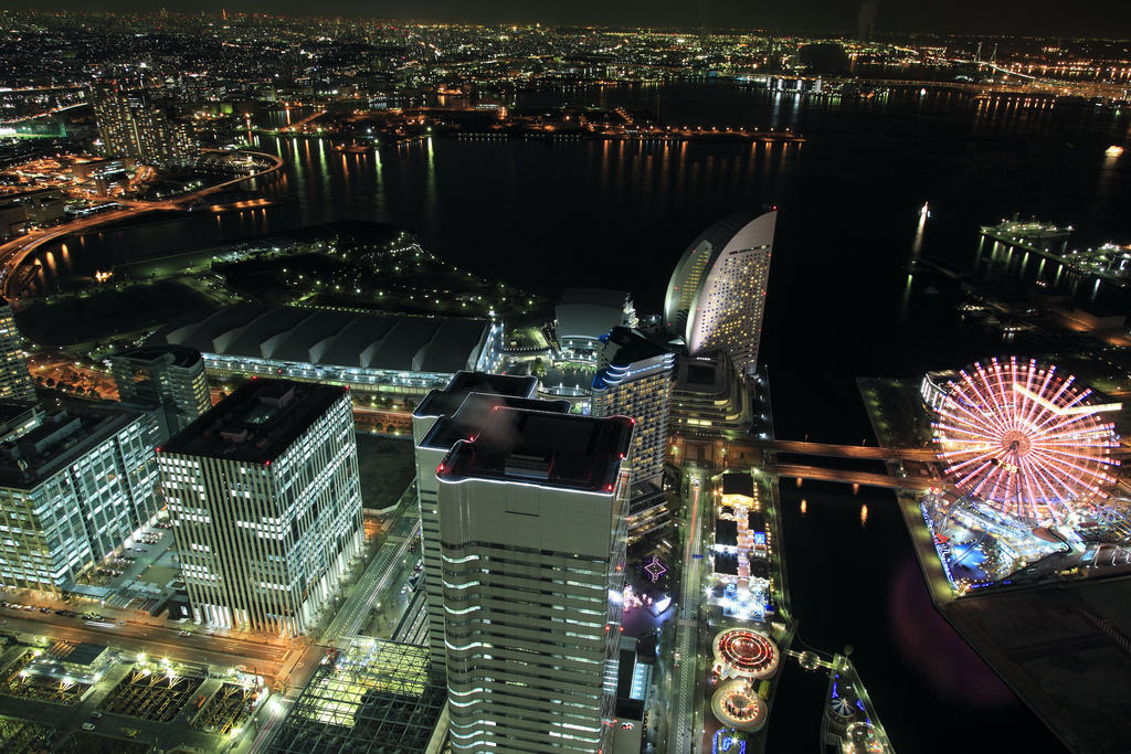 Night view of Minatomirai